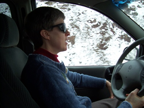 We'll start with the obligatory 'mom driving the car'.